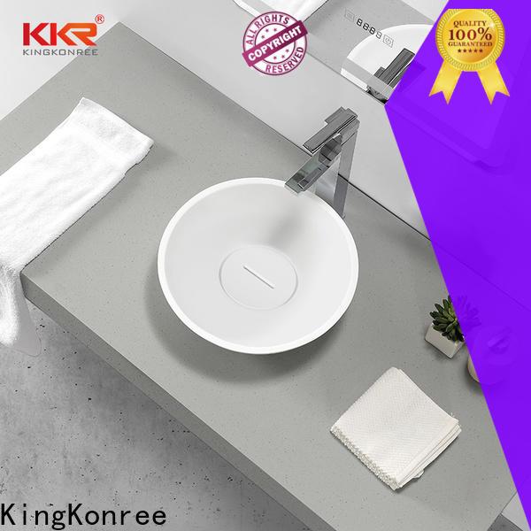 KingKonree elegant small countertop basin supplier for restaurant