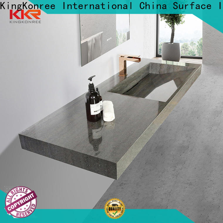 slope rectangular wall mount sink customized for home
