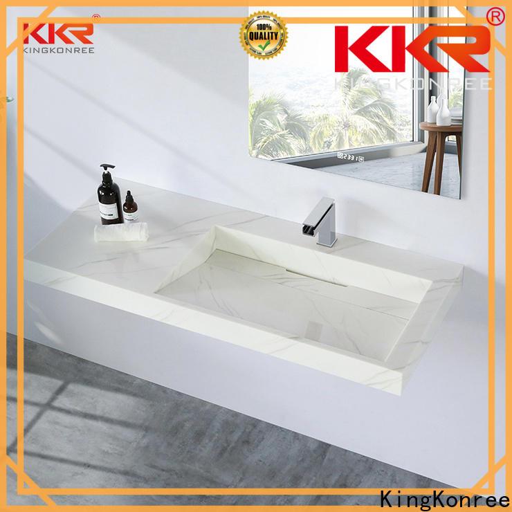 KingKonree wall mounted bathroom basin supplier for hotel