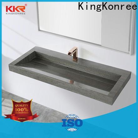 KingKonree bathware round wall hung basin manufacturer for home