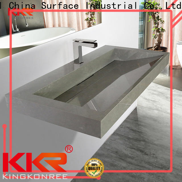 solid wall mounted basin with towel rail customized for home