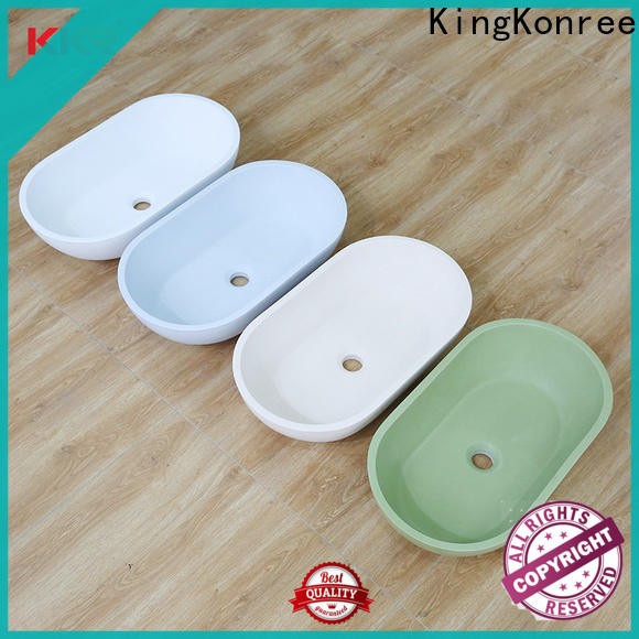 KingKonree durable above counter vessel sink at discount for hotel