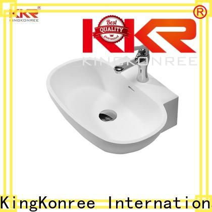 white top mount bathroom sink design for home