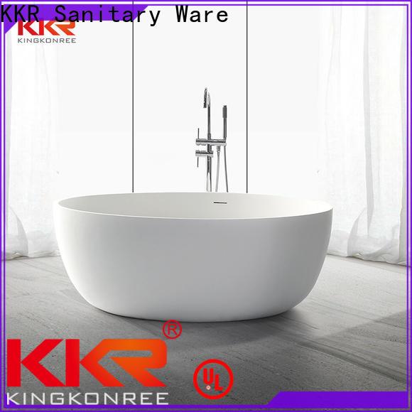 KingKonree stone resin freestanding bath custom for bathroom