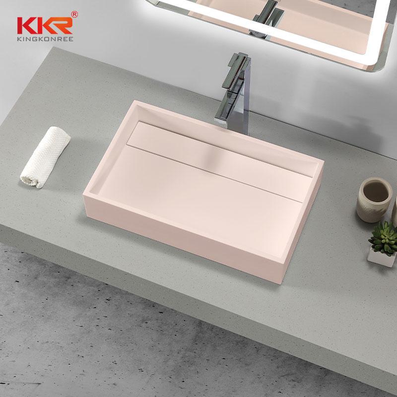 KKR Solid Surface Rectangular Sink Bathroom Wash Basin Sink KKR-1329