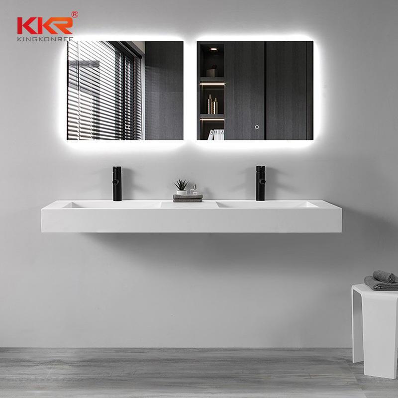 Long-Lasting Bathroom Solid Surface Bathroom Vanities and Sinks KKR-1267