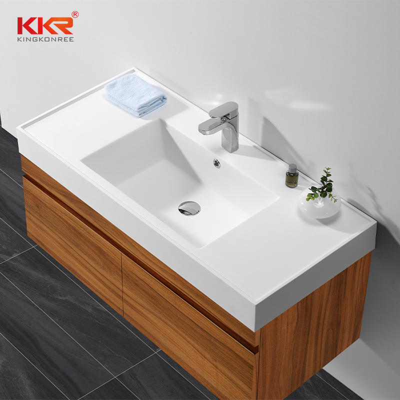 Bathroom Vanity Composite Stone Top Acrylic Solid Surface Vanity Top Sink KKR-1535