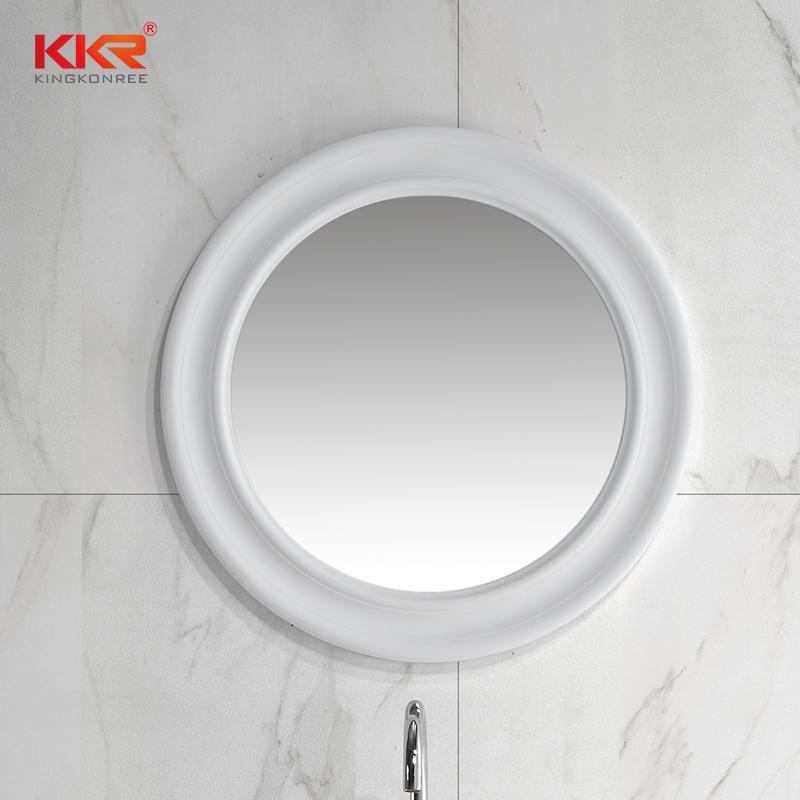 Classic Round Oval Bathroom Mirror, Solid Surface Waterproof Mirror KKR-1578
