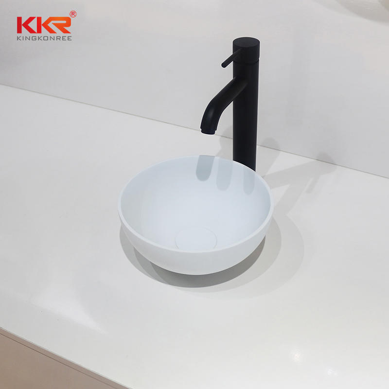Solid Surface Table Top Artificial Stone Basins KKR-1515-2