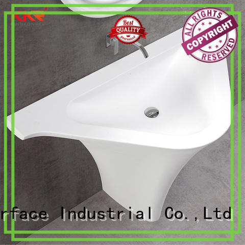 KingKonree freestanding pedestal sink customized for motel
