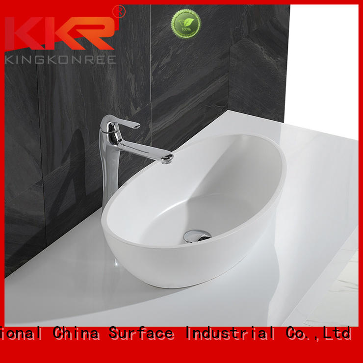 Quality KingKonree Brand oval above counter basin above countertop