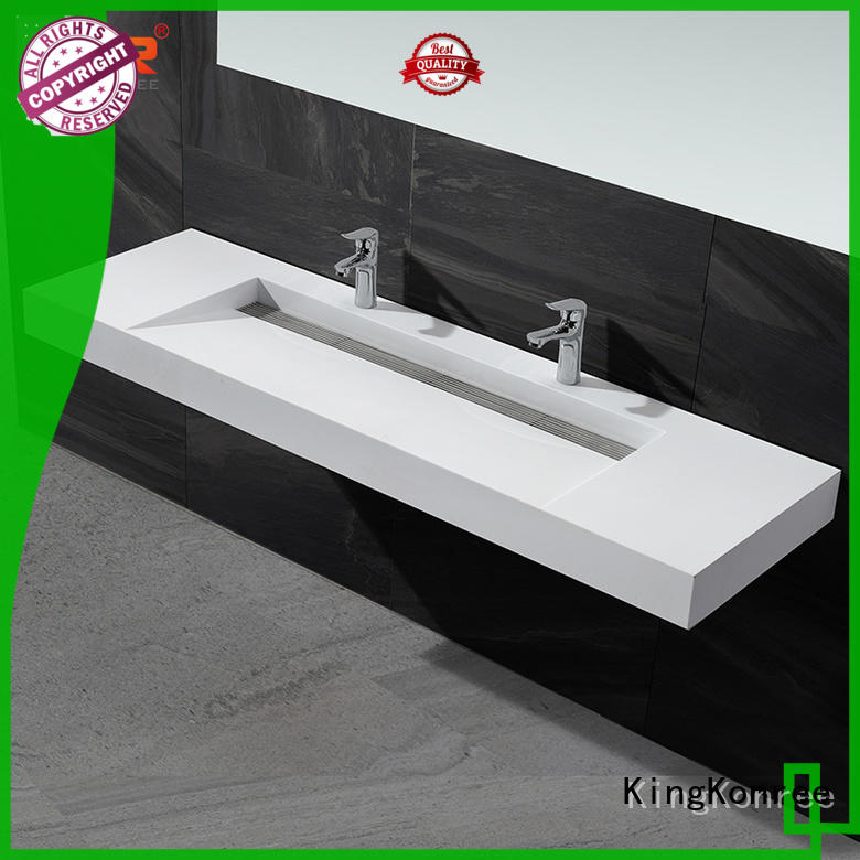 cheap wall hung basin white for hotel KingKonree