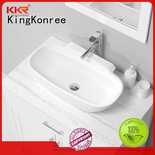 small above counter bathroom sinks design for hotel KingKonree