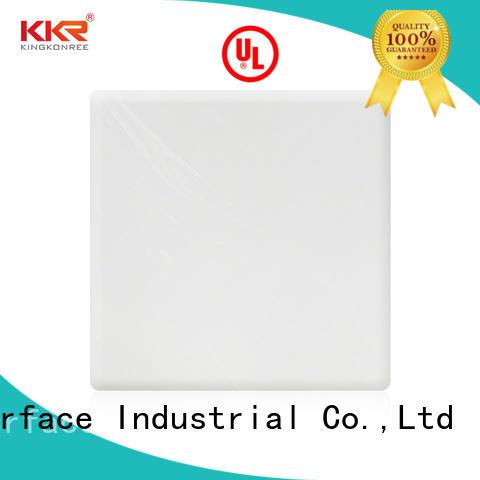 grey acrylic solid surface sheet manufacturer for indoors KingKonree