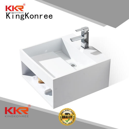 fancy Custom white wall mounted wash basins towel KingKonree