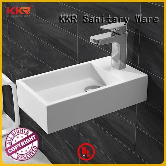KingKonree double square wall mounted basin sink for toilet