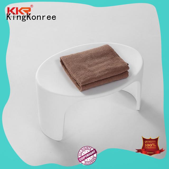 KingKonree white shower stool manufacturer for hotel