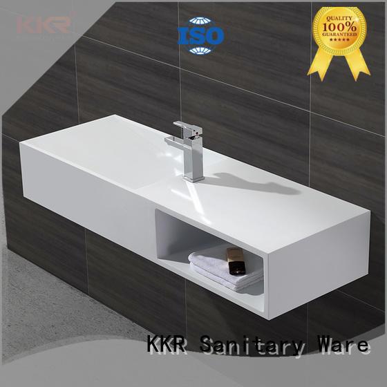 KingKonree wall hung bathroom basins sink for hotel