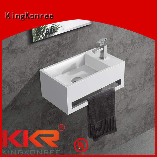 Hot slope wall mounted bathroom basin hanger KingKonree Brand
