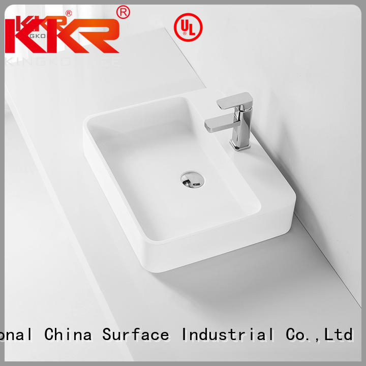 KingKonree Brand wash pure custom oval above counter basin