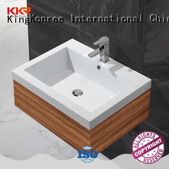 KingKonree acrylic wash basin models and price customized for motel