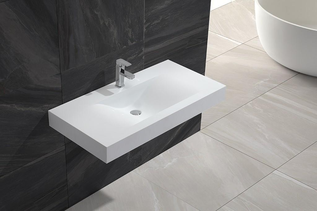 white wall hung basin supplier for bathroom-1