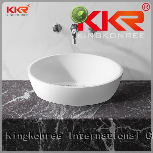 KingKonree pure above counter sink bowl design for restaurant