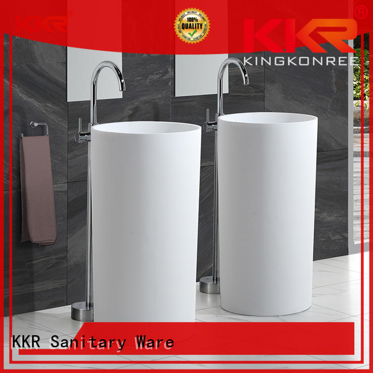 KingKonree acrylic bathroom sink stand manufacturer for hotel