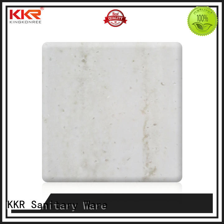 white solid surface sheets for sale manufacturer for hotel