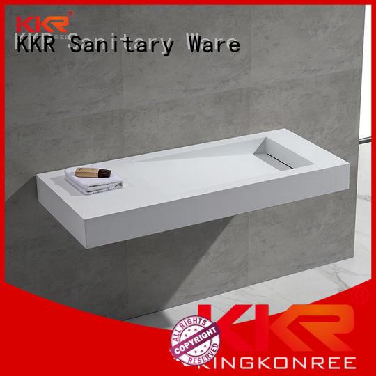 wall mounted bathroom basin surface mounted KingKonree Brand company