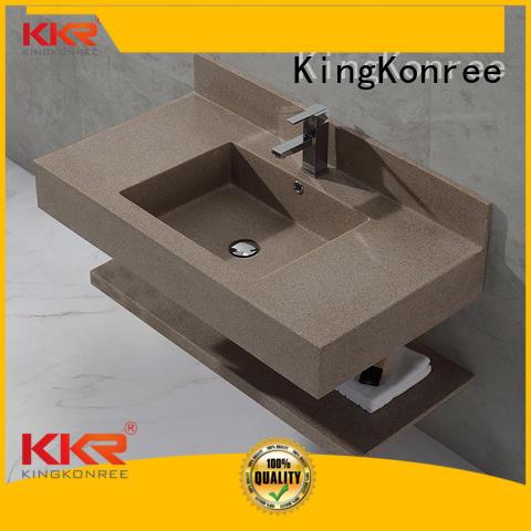 KingKonree Brand wash solid custom wall mounted bathroom basin