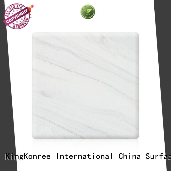 KingKonree veining acrylic solid surface sheet design for home