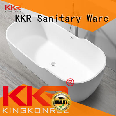 KingKonree round freestanding bathtub at discount for bathroom