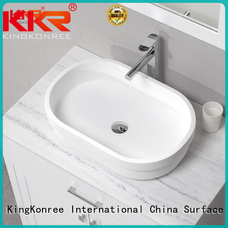 KingKonree durable small countertop basin manufacturer for room