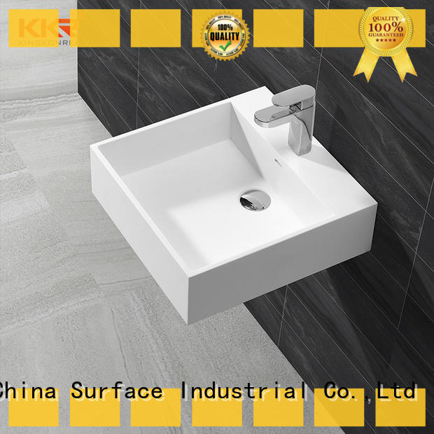 KingKonree wall hung vanity basin sink for toilet