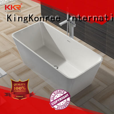 marble stone resin freestanding bath matt for hotel KingKonree