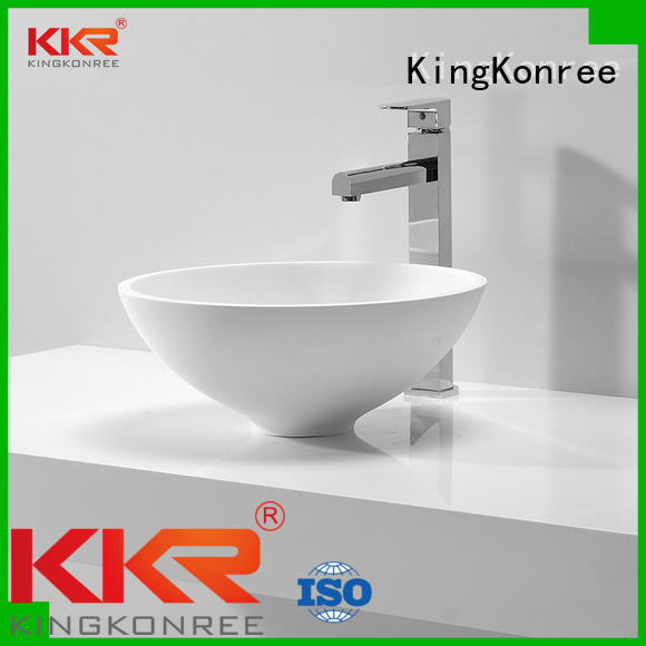 KingKonree Brand white quality above counter basins manufacture