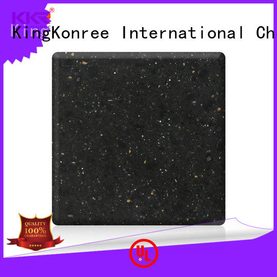 KingKonree thick solid surface material black for home