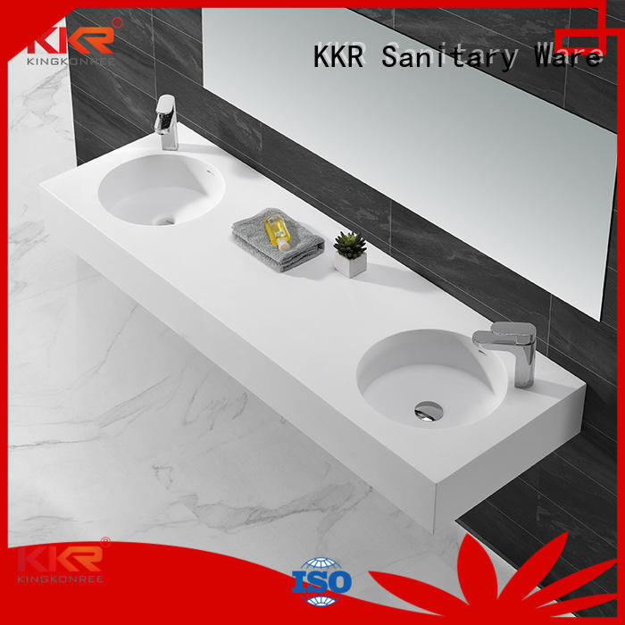 wall mounted bathroom basin wall-hung white wash KingKonree Brand wall mounted wash basins