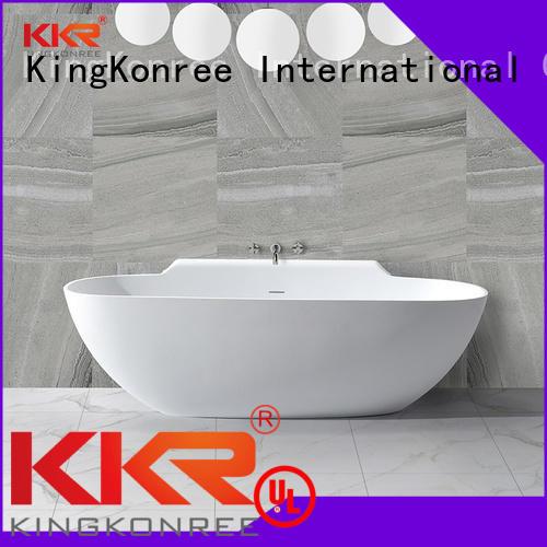 b010 polymarble b003 KingKonree Brand Solid Surface Freestanding Bathtub factory