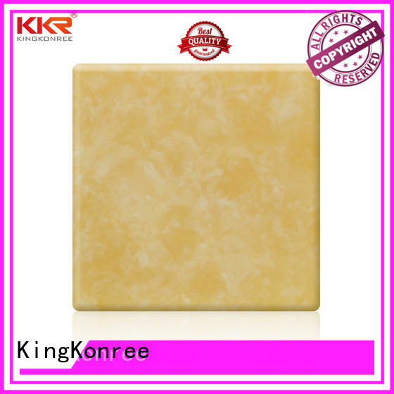 KingKonree royal white solid surface countertops marble for hotel