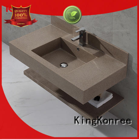 concrete small wall hung basin sink for bathroom