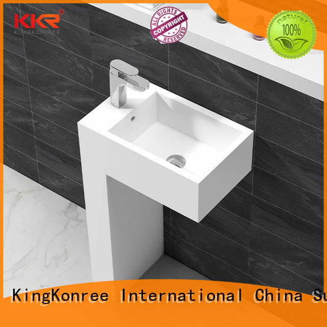 KingKonree best material solid surface basin highly-rated for hotel