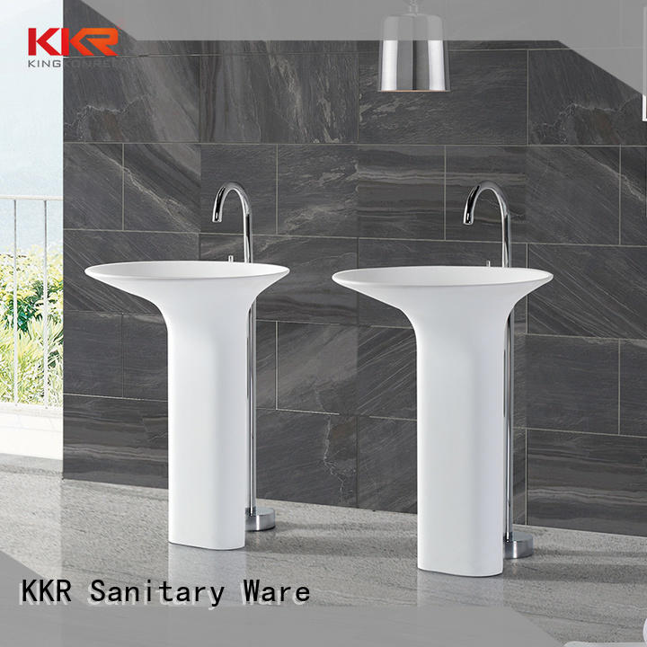 KingKonree freestanding pedestal sink supplier for home