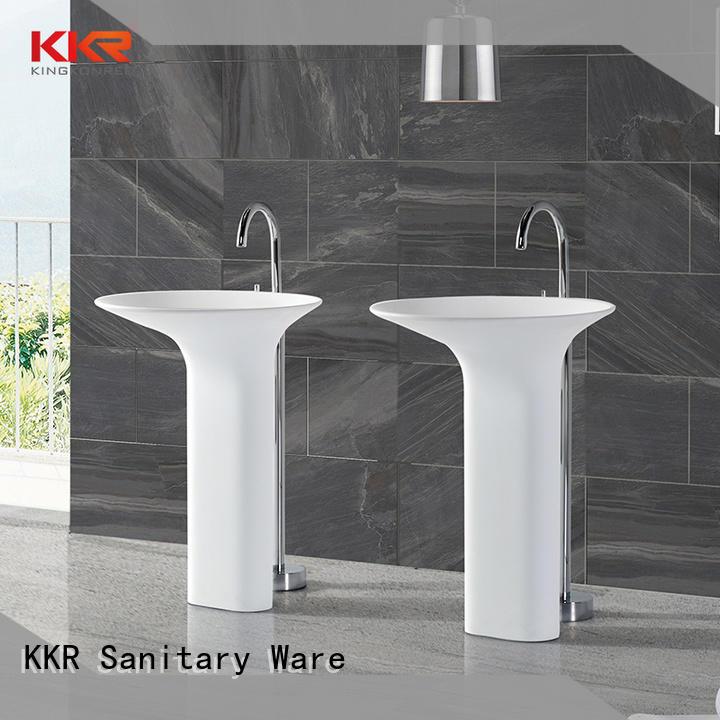 KingKonree freestanding pedestal sink supplier for home