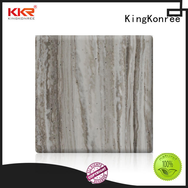 KingKonree black acrylic solid surface sheet prices manufacturer for indoors