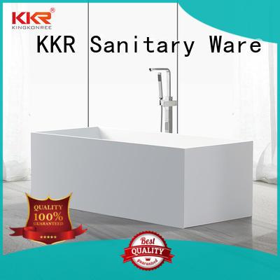 KingKonree black stone resin freestanding bath custom