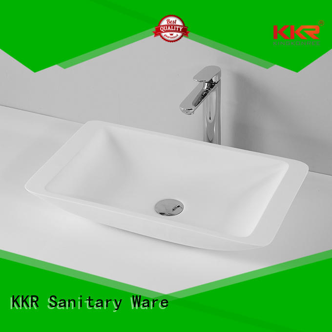 oval above counter basin acyrlic wash KingKonree Brand