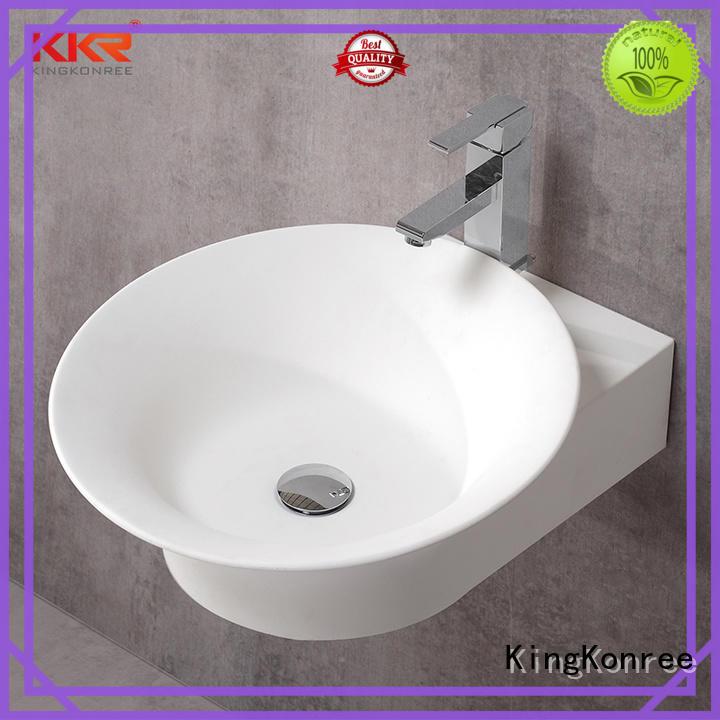 KingKonree wall hung vanity basin customized for bathroom