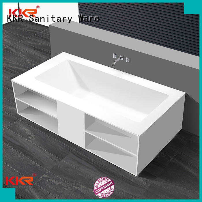 length storage atrifial OEM solid surface bathtub KingKonree